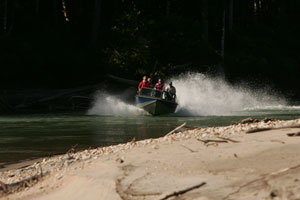 Jet boat adventures on the Exchamsiks River