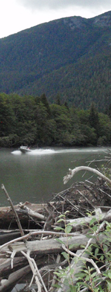 Wilderness Jet Boat tour down the  Exchamsiks River